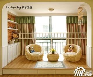 田园风格公寓小清新富裕型地台窗帘效果图
