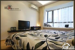简约风格公寓温馨经济型120平米卧室电视柜效果图