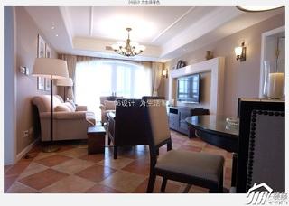 混搭风格公寓简洁富裕型120平米客厅灯具效果图