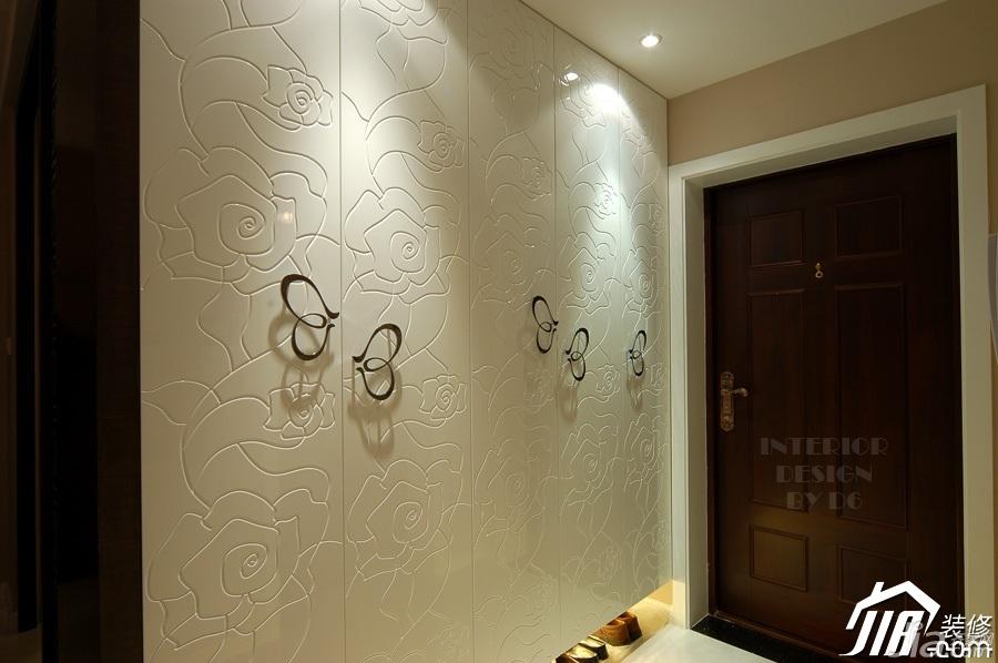 简约风格公寓经济型110平米玄关衣柜设计图纸