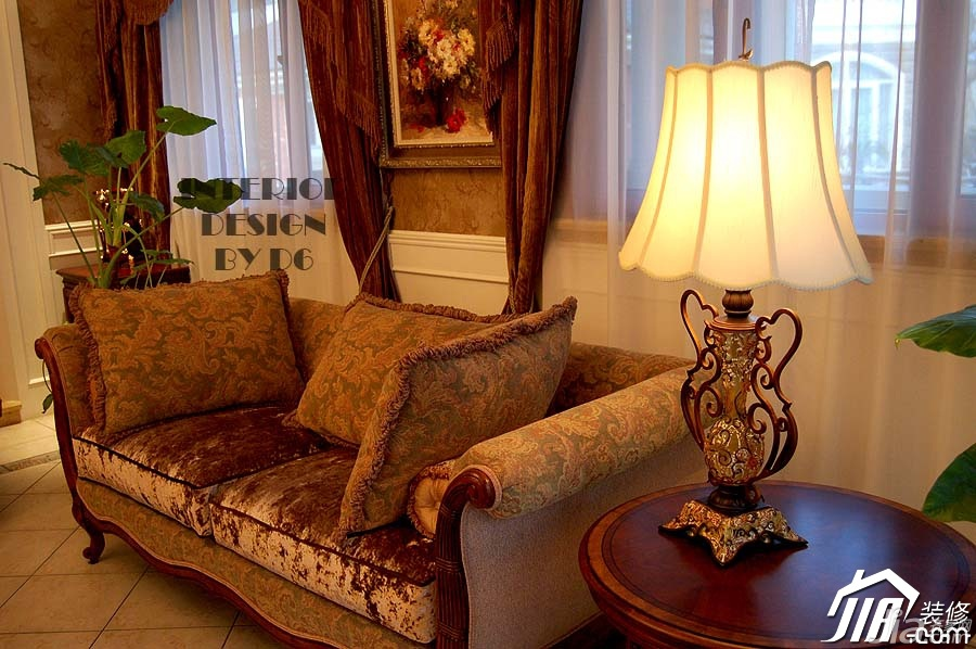 欧式风格别墅奢华豪华型客厅沙发效果图