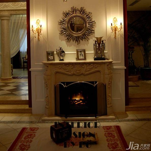 欧式风格别墅奢华豪华型客厅灯具效果图