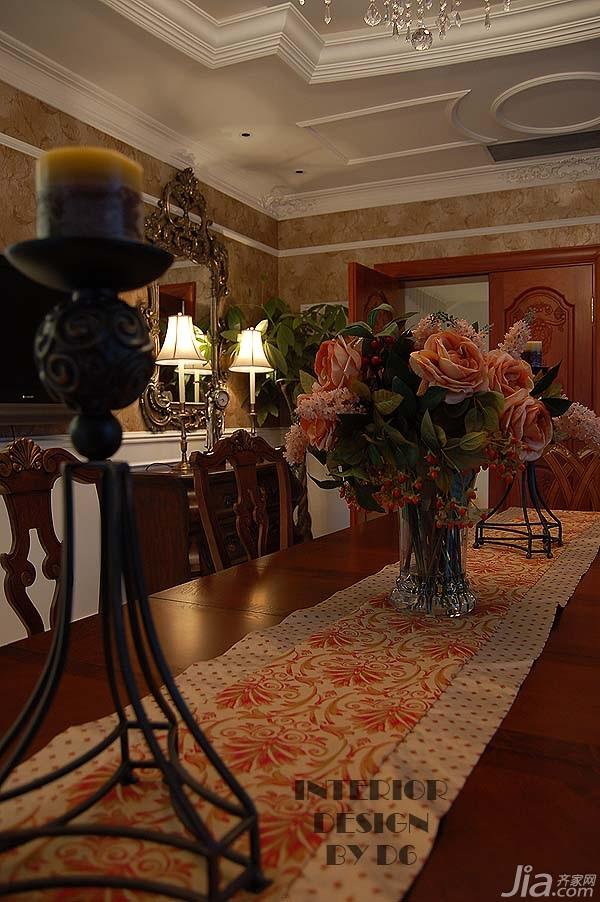 欧式风格别墅奢华豪华型餐厅餐桌效果图