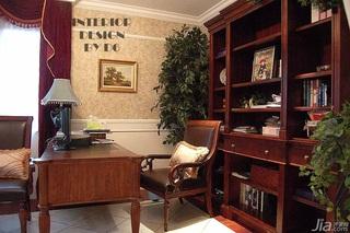 欧式风格别墅奢华豪华型书房书桌效果图