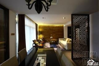中式风格公寓富裕型120平米客厅客厅隔断沙发效果图