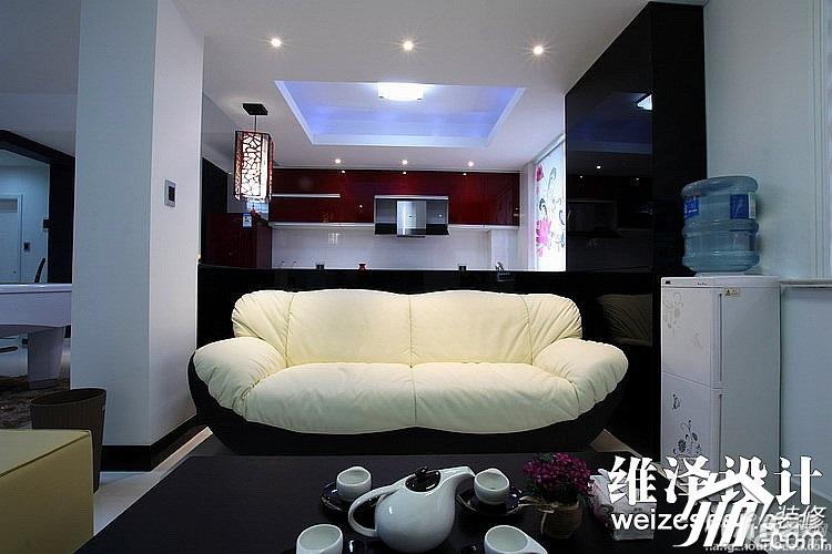 公寓大气富裕型客厅隔断沙发效果图高清图片