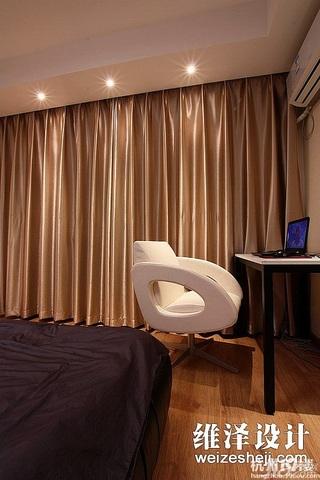 公寓大气富裕型卧室窗帘效果图