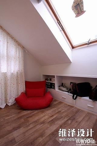 田园风格复式唯美富裕型140平米以上阁楼窗帘效果图