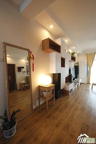 简约风格二居室富裕型客厅电视背景墙电视柜效果图