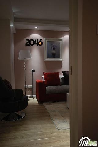 简约风格二居室富裕型客厅灯具效果图