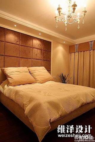 简约风格咖啡色140平米以上卧室窗帘效果图
