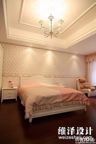 简约风格咖啡色140平米以上卧室壁纸图片