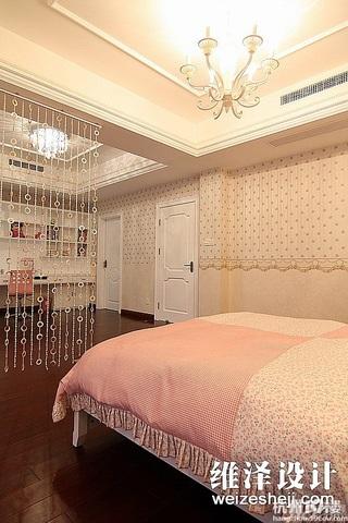 简约风格唯美咖啡色140平米以上卧室壁纸效果图