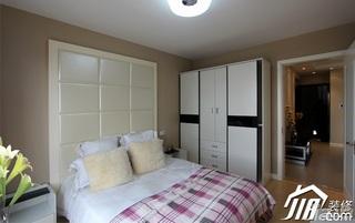 简约风格公寓经济型70平米床头软包衣柜设计图纸