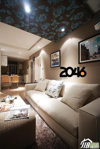 简约风格公寓3万-5万60平米客厅沙发背景墙沙发效果图