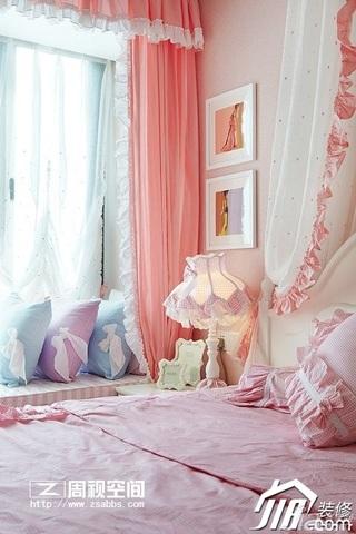 田园风格公寓小清新富裕型80平米卧室窗帘效果图