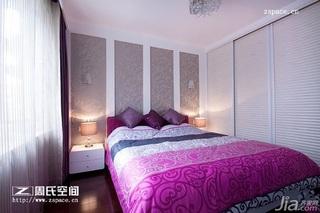 简约风格公寓时尚咖啡色富裕型100平米卧室卧室背景墙衣柜订做