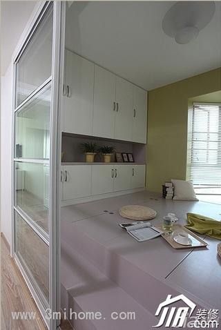 三米设计简约风格公寓经济型120平米隔断装修效果图