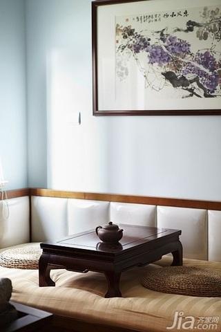 简约风格公寓时尚暖色调富裕型100平米书房地台装修效果图