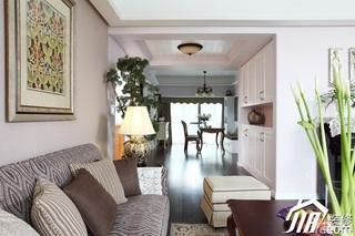 三米设计简欧风格公寓经济型120平米客厅沙发效果图