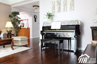 三米设计简欧风格公寓经济型120平米效果图
