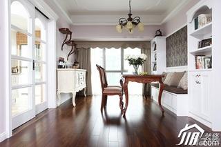 三米设计简欧风格公寓经济型120平米餐厅餐桌效果图