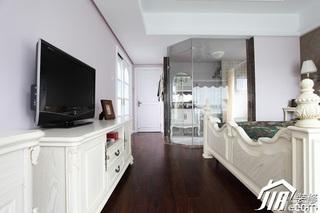 三米设计简欧风格公寓经济型120平米卧室电视柜效果图