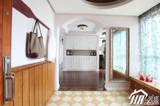三米设计简欧风格公寓经济型120平米过道窗帘效果图