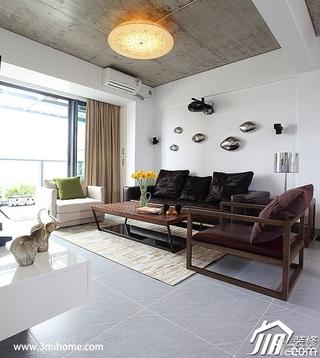 三米设计简约风格复式富裕型客厅吊顶窗帘效果图