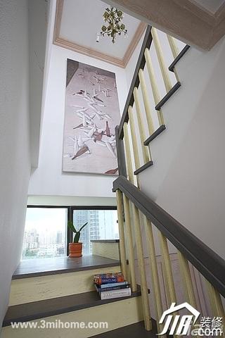 三米设计简约风格跃层富裕型楼梯装修效果图