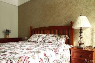 混搭风格公寓时尚原木色100平米卧室床头柜效果图