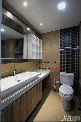 混搭风格别墅时尚富裕型140平米以上卫生间浴室柜图片