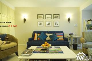 四房小清新暖色调富裕型140平米以上客厅照片墙沙发效果图