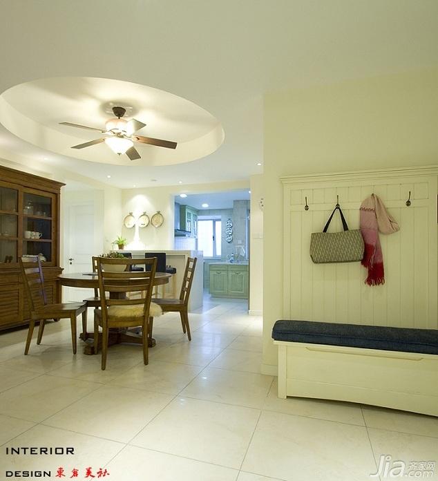 四房小清新暖色调富裕型140平米以上餐厅橱柜设计图纸