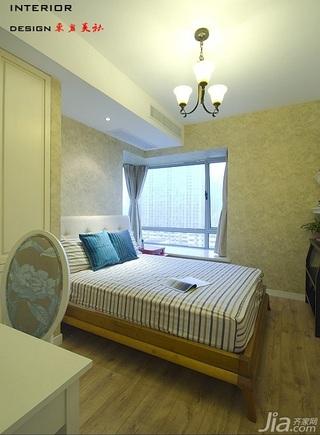 四房小清新暖色调富裕型140平米以上卧室壁纸图片