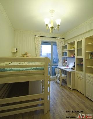 四房小清新暖色调富裕型140平米以上儿童房窗帘效果图