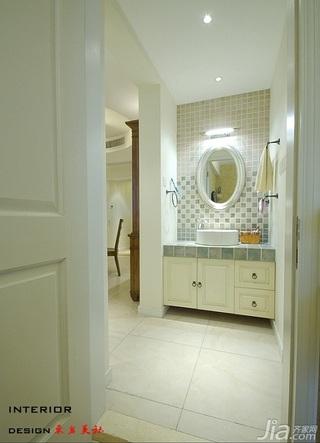 四房小清新暖色调富裕型140平米以上洗手台效果图