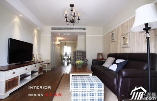 简约风格二居室时尚富裕型客厅灯具效果图