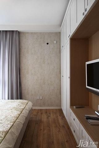 简约风格公寓温馨暖色调富裕型80平米卧室电视柜效果图