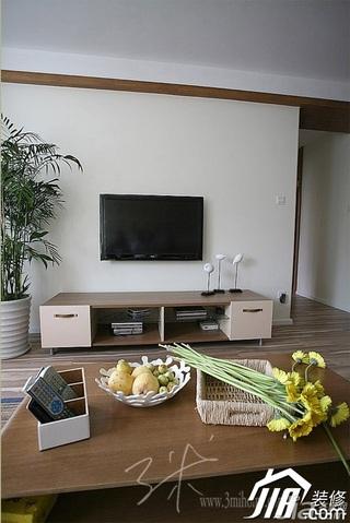 三米设计简约风格公寓经济型120平米客厅茶几效果图