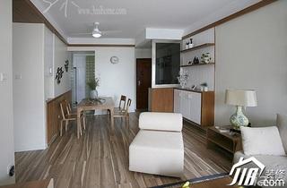 三米设计简约风格公寓经济型120平米客厅灯具效果图