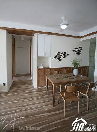 三米设计简约风格公寓经济型120平米餐厅餐厅背景墙餐桌效果图