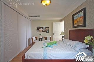 三米设计欧式风格三居室豪华型130平米卧室照片墙壁纸效果图