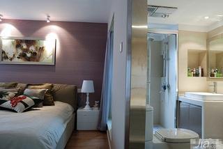 loft风格跃层富裕型卧室壁纸效果图
