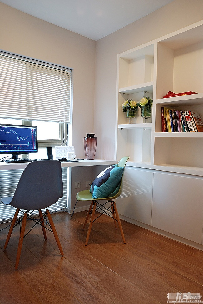 loft风格跃层富裕型书房书桌效果图