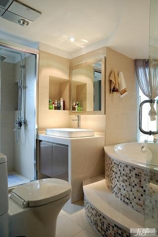 loft风格跃层富裕型卫生间洗手台效果图
