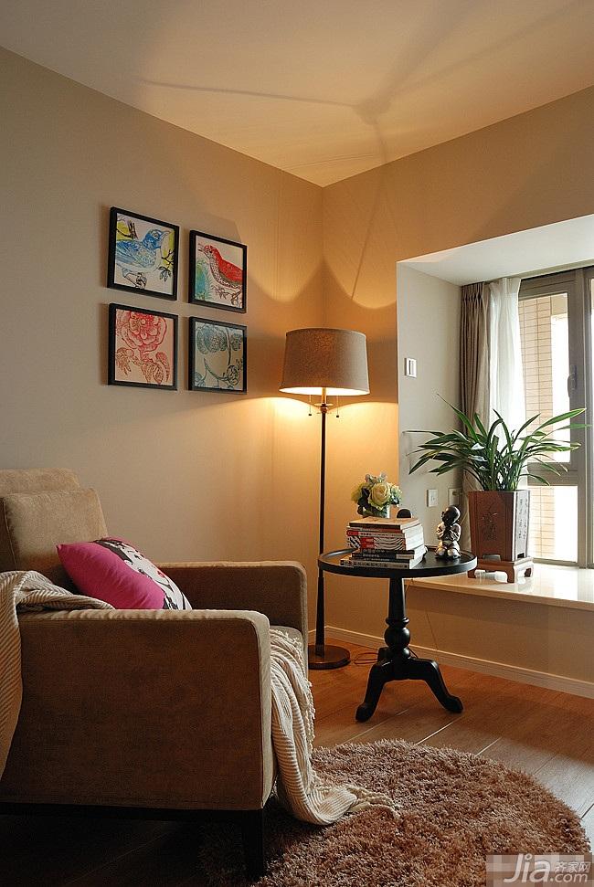 loft风格跃层富裕型客厅飘窗灯具效果图