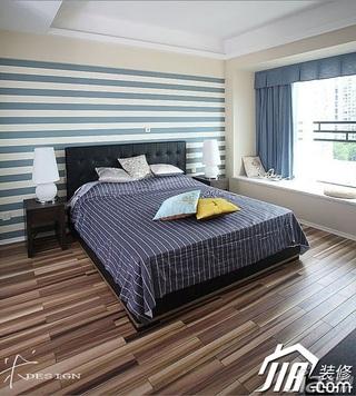 三米设计简约风格公寓经济型130平米卧室飘窗壁纸效果图