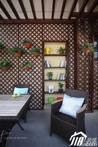 三米设计简约风格公寓经济型130平米庭院书架效果图