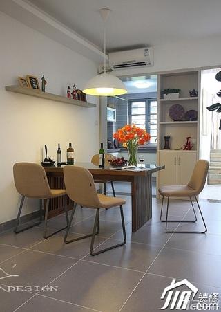 三米设计简约风格公寓经济型130平米餐厅隔断餐桌效果图